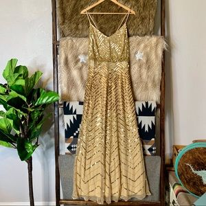 Adrianna Pappell Gold Sequin Dress - Gown